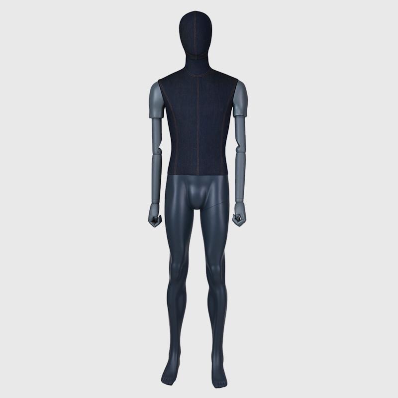 Store new design mannequins male black mannequin full body