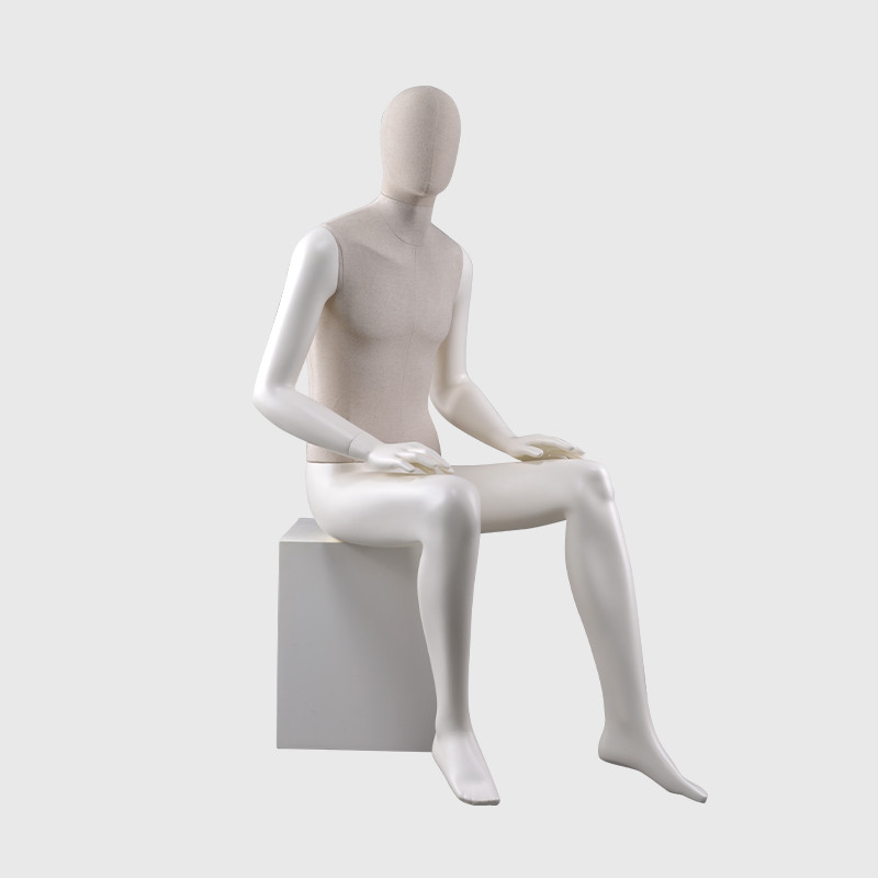 Sitting male mannequin fashion mannequins man full body