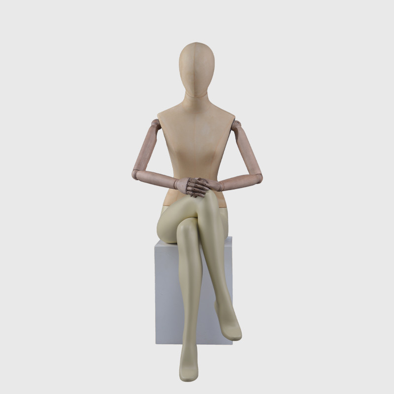 Cheap sitting mannequin full size western female mannequin