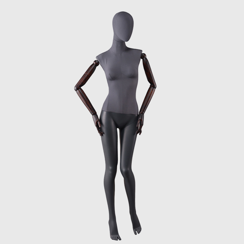 Custom fiberglass abstract female egg head mannequin factory