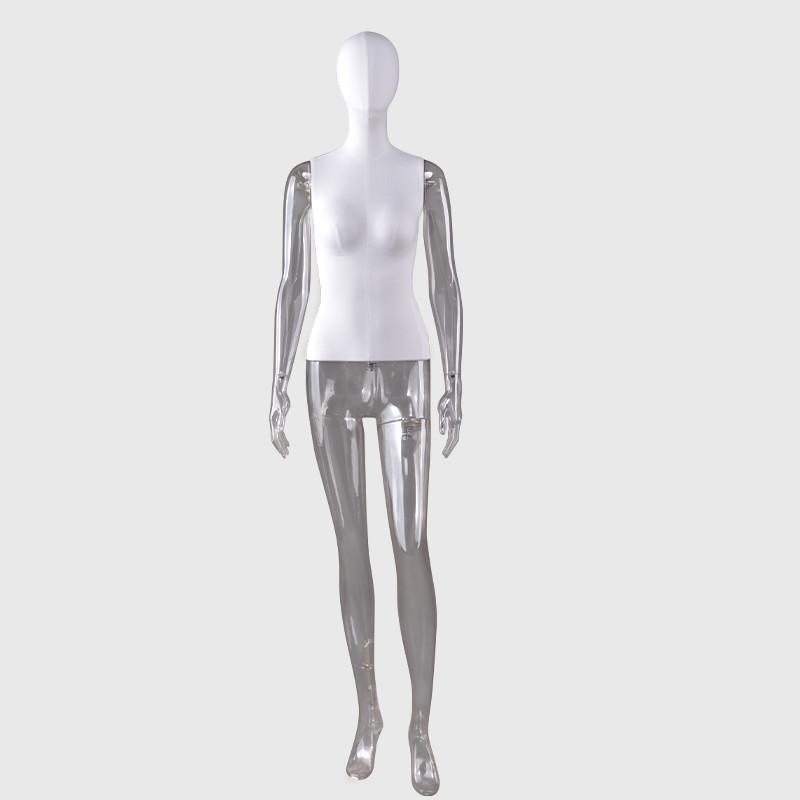 Full body transparent mannequin or manikin resin female mannequin