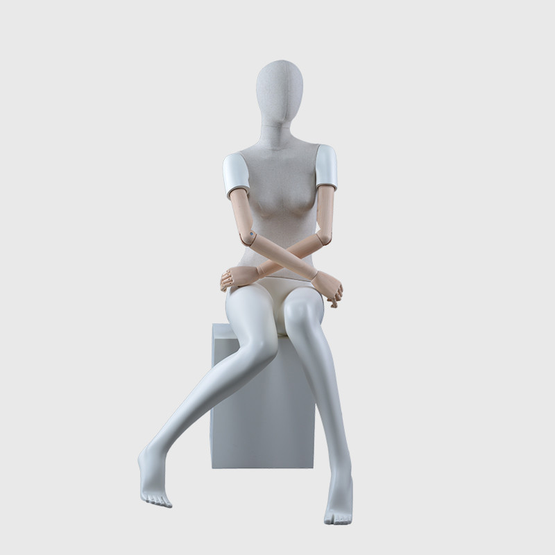 Poseable mannequin dress form for pants with adjust arms mannequin