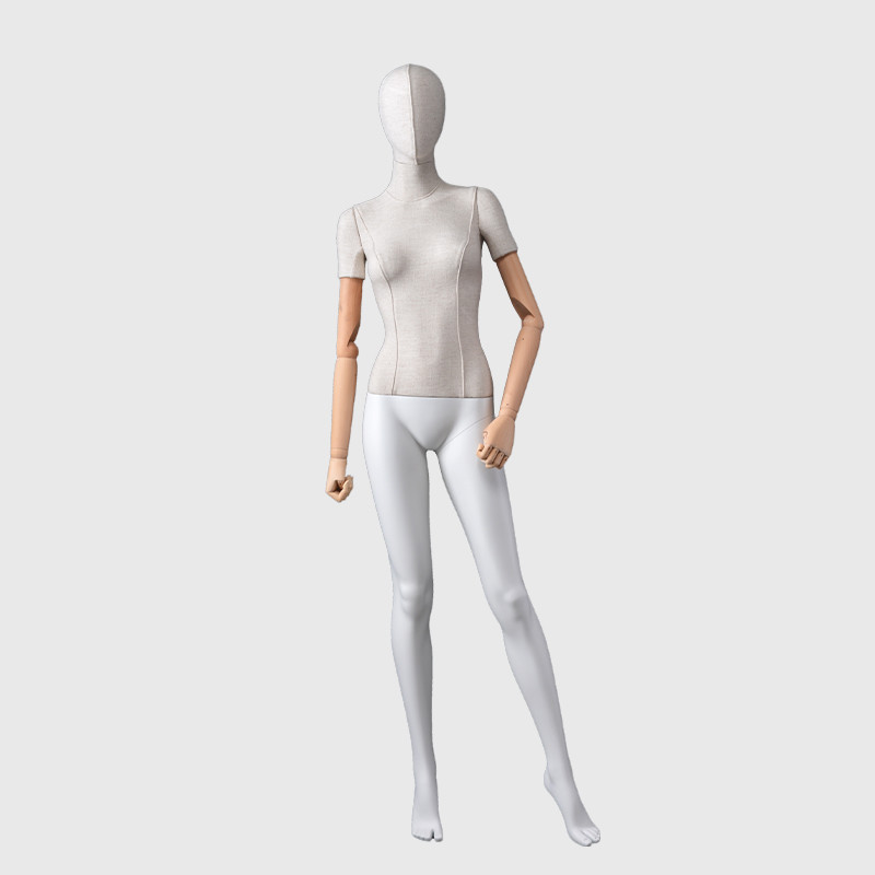 Female mannequin for fashion wood arms,standing female manenquin