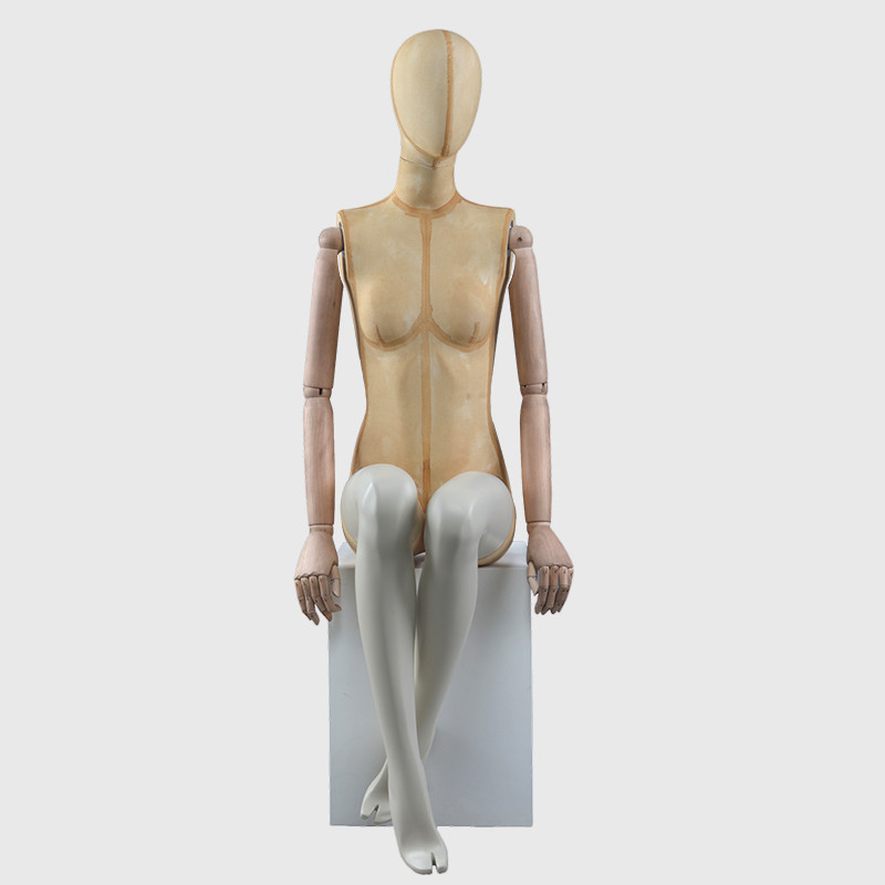 Sitting mannequin female abstract egg mannequin women for sale