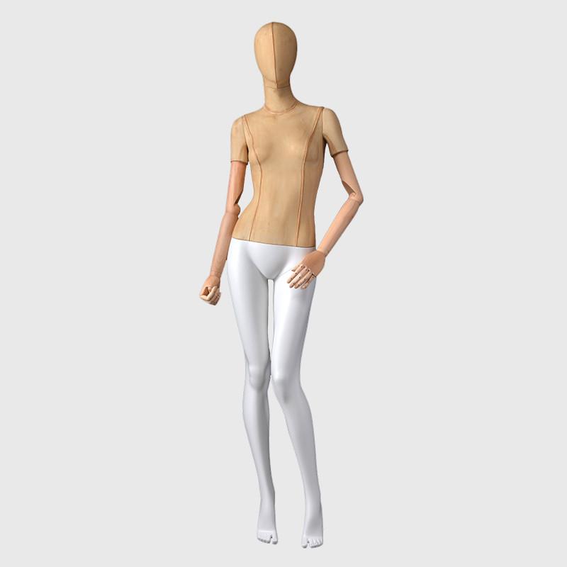 Linen full body mannequin adjustable mannequin female