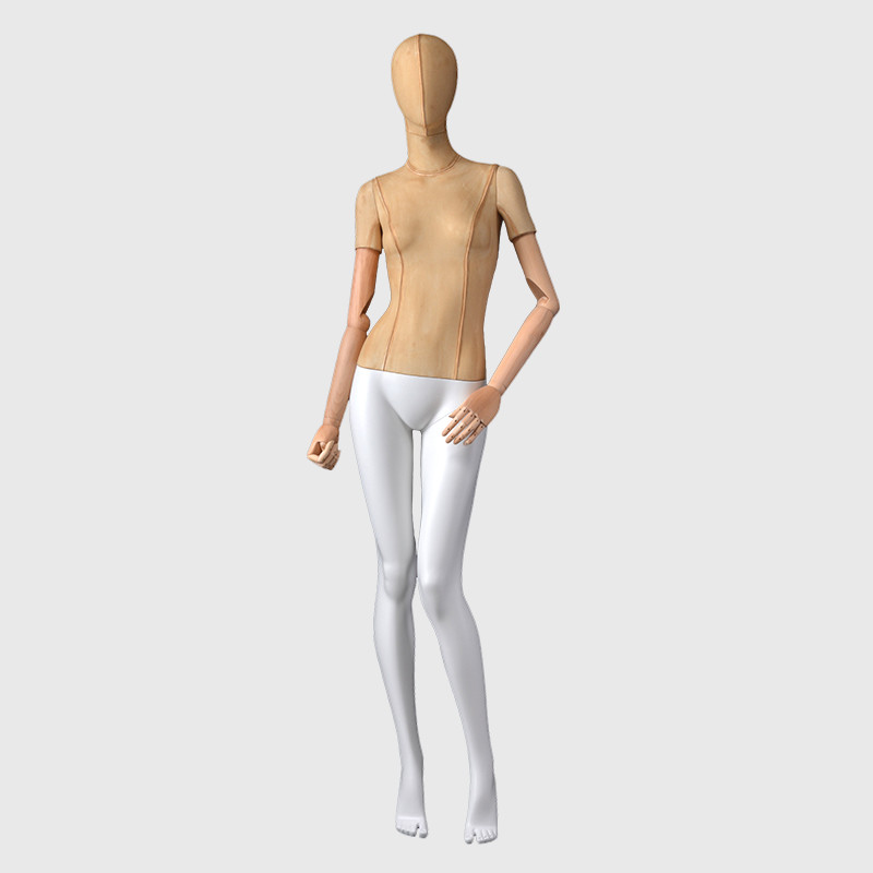 Linen full body mannequin adjustable mannequin female