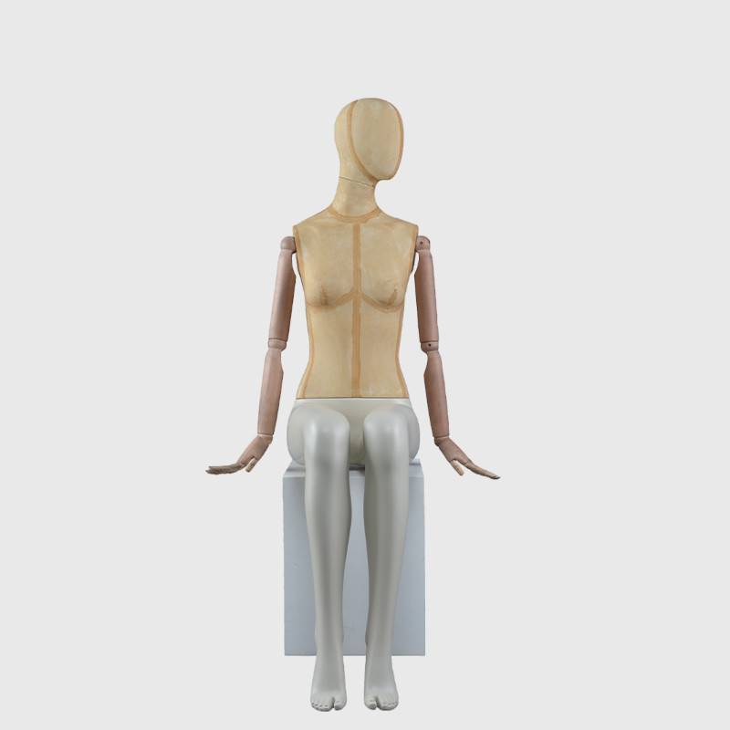 Full body mannequin dress forms women mannequin with wooden arms