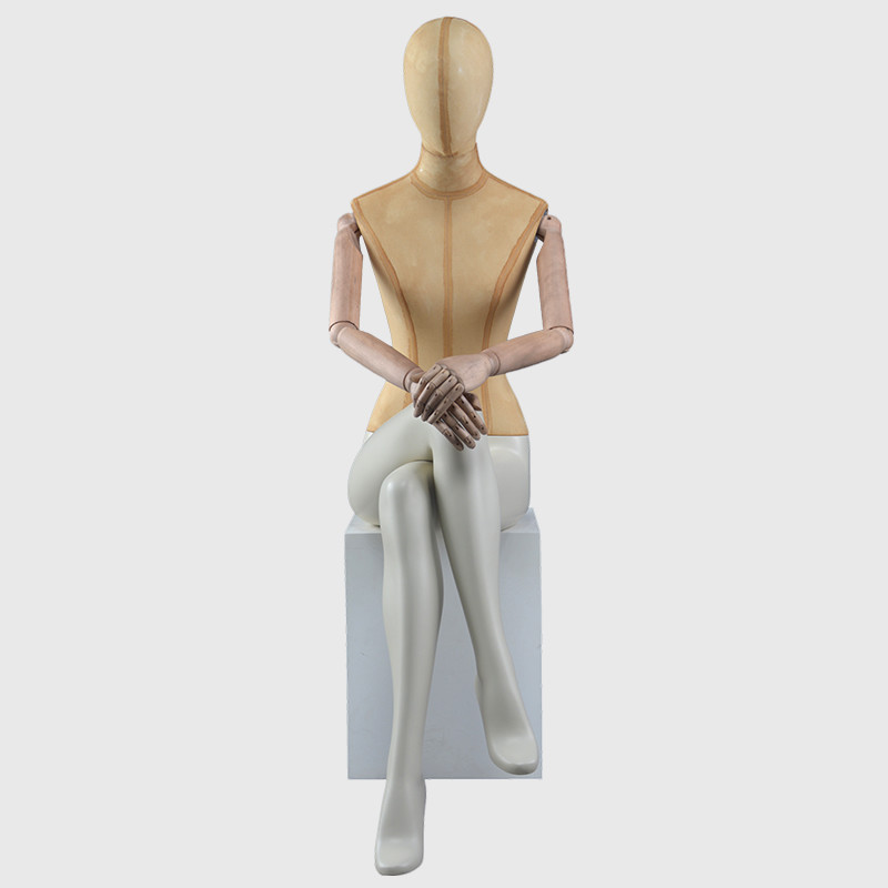 Sitting mannequin female full body dress form