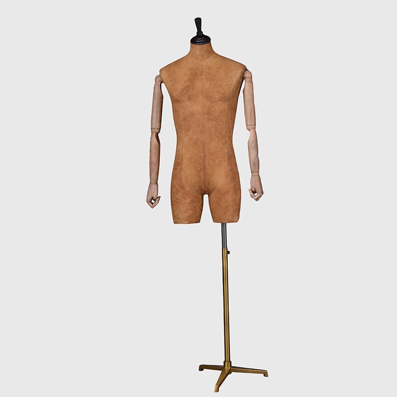 Custom vintage male dress form fabric mannequin