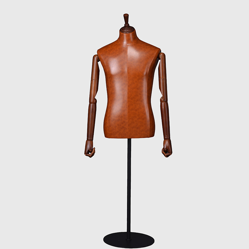 Factory custom dress form male leather mannequins