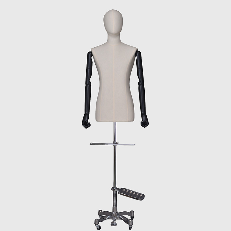Male mannequin display dress form half mannequin with head