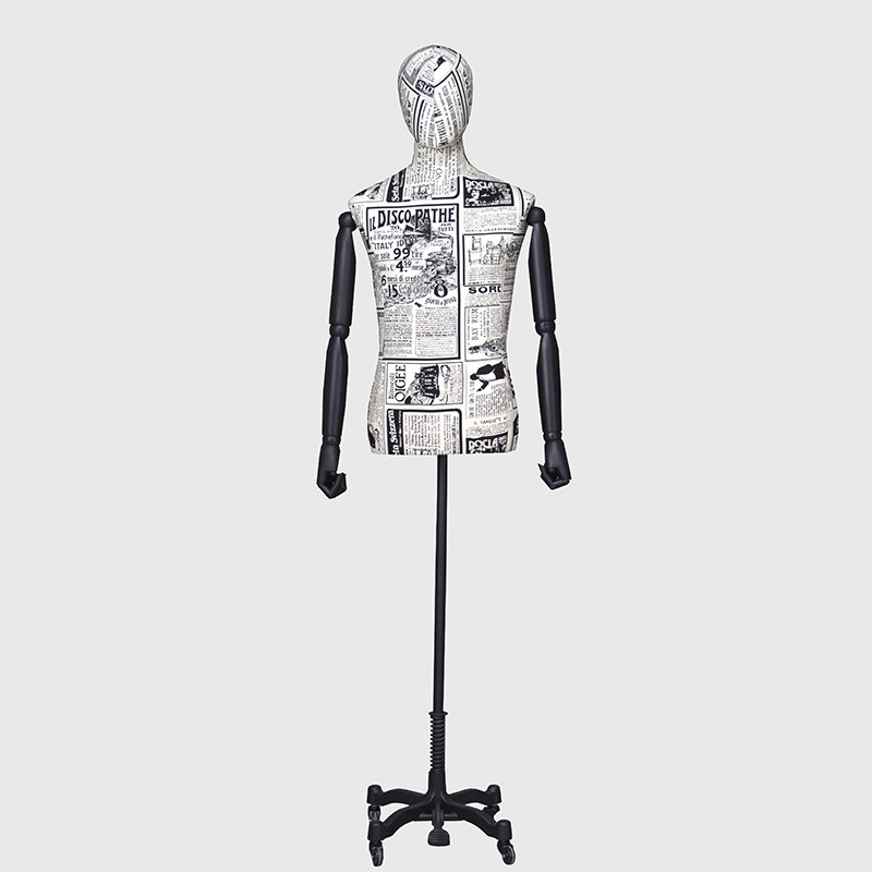 Dress form pattern mannequin men mannequins torso male body wood arms