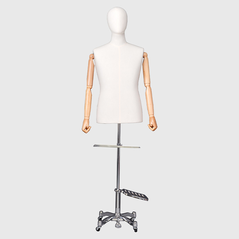 Male fabric mannequin half body male plus size dress forms