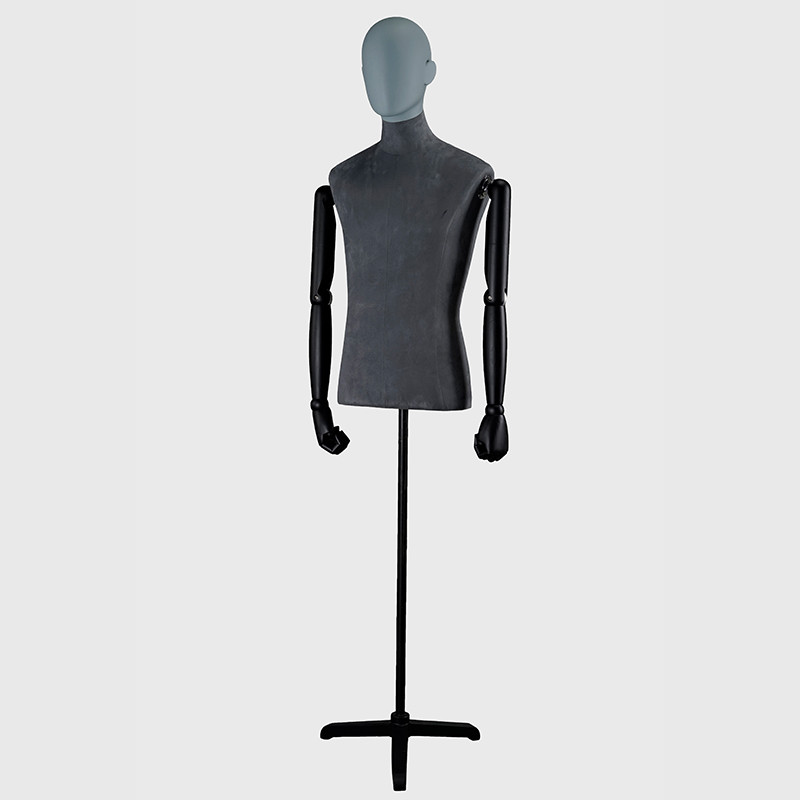 Velet mannequin with articulated arms mannequin male dress form