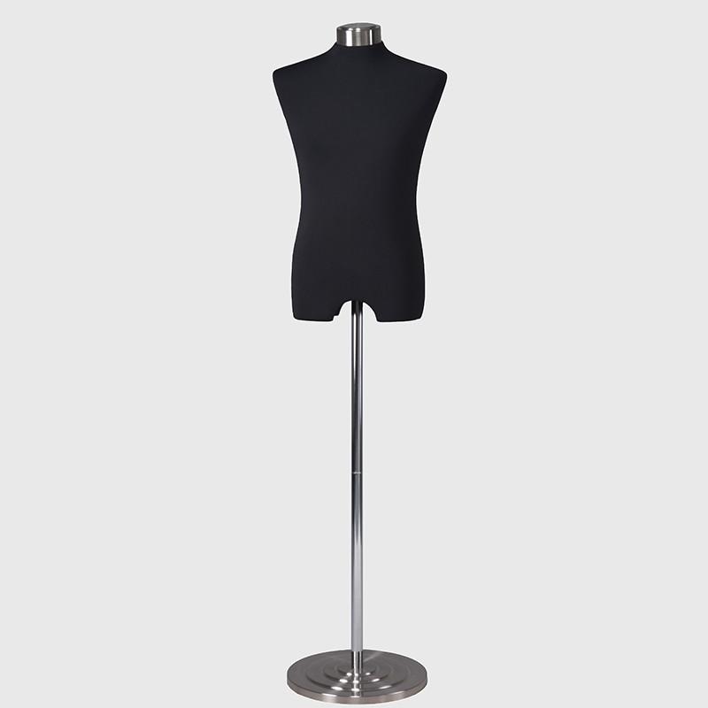 Black male dress form male half body tailor dummy