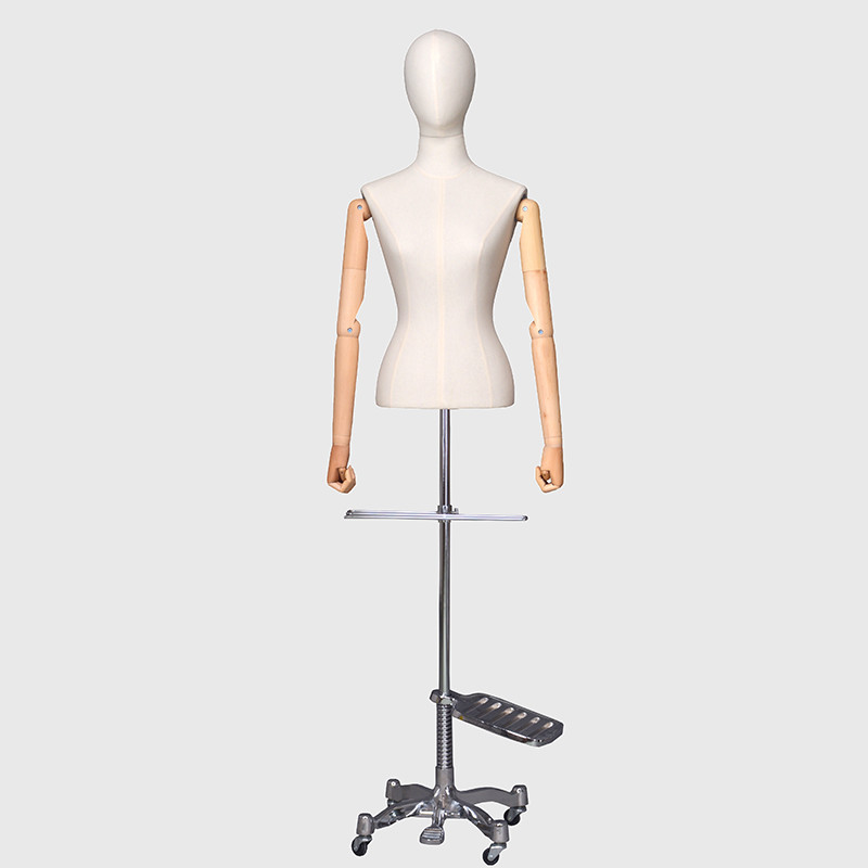 Brand new abric dummy adjustable arms dress form mannequin female