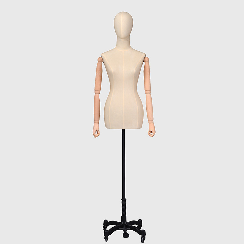 New design fabric covered female mannequin torso dress form for sale cheap