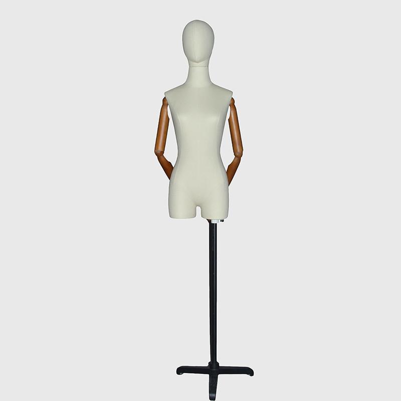 Factory custom fabric dress mannequin dummy dress form with head