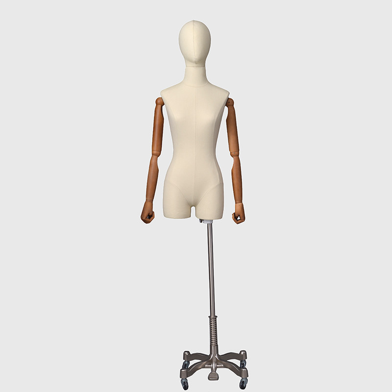 Fashion female torso form mannequins dress form with stand