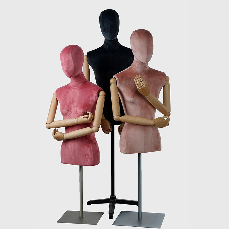 Velet fabric wrapped dress form mannequin female on sale