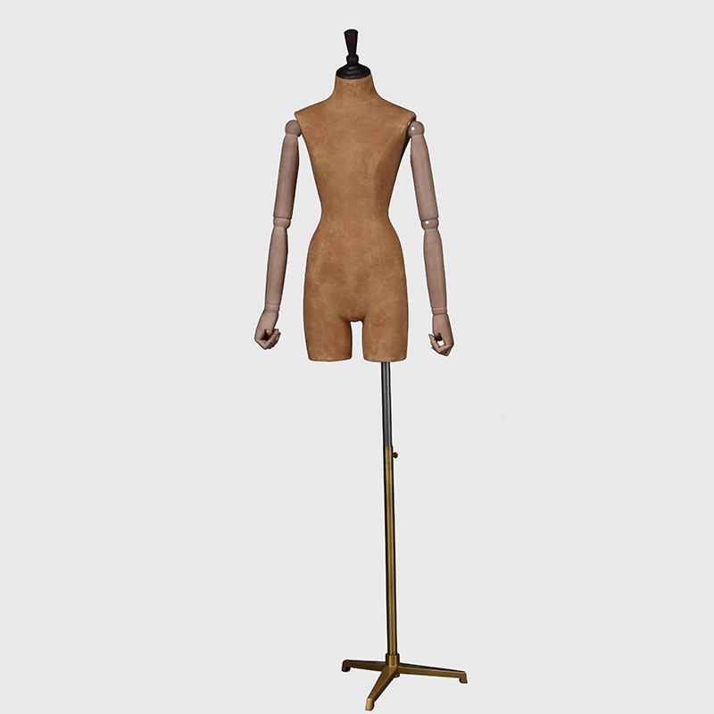 Dress form wholesale articulated arms mannequin wooden arms female mannequin