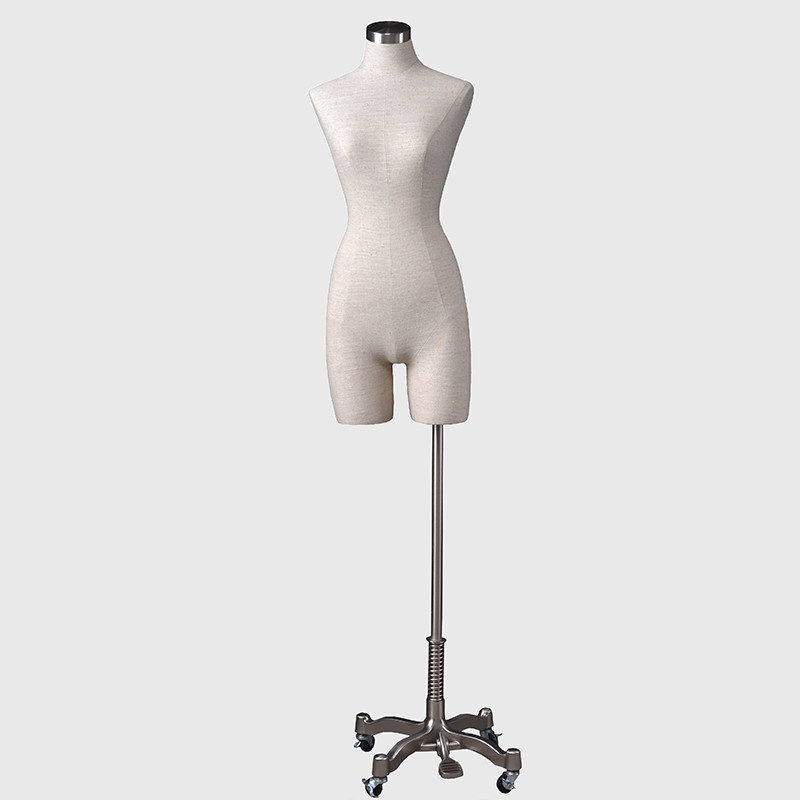Half body form mannequin dress form display fabric mannequins for sale