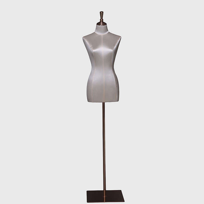 Half body female dress form fabric covered torso mannequins