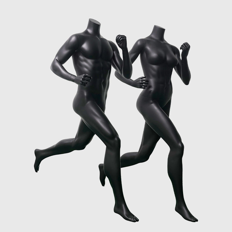 Muscle black female and male mannequin headless sports atlletic mannequin