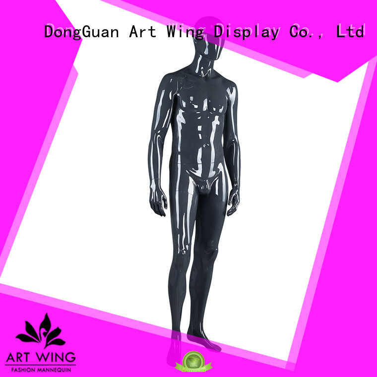 Art Wing quality glossy black mannequin from China for shop