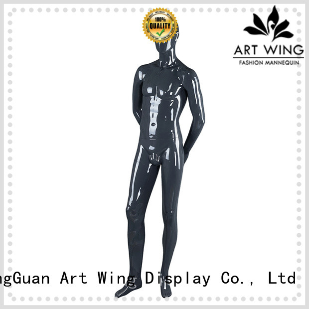 Art Wing muscle black glossy mannequin manufacturer for display