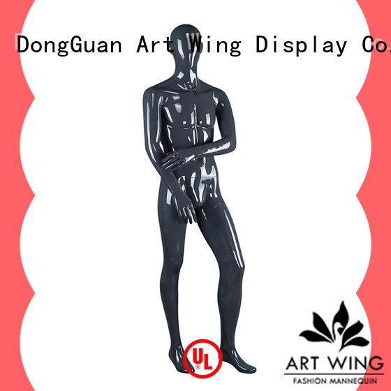 Art Wing quality glossy black mannequin manufacturer for business